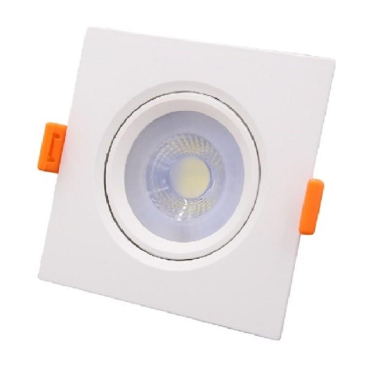 Spot LED de Embutir Plastico Quadrado 50w Amarela - Ecoline