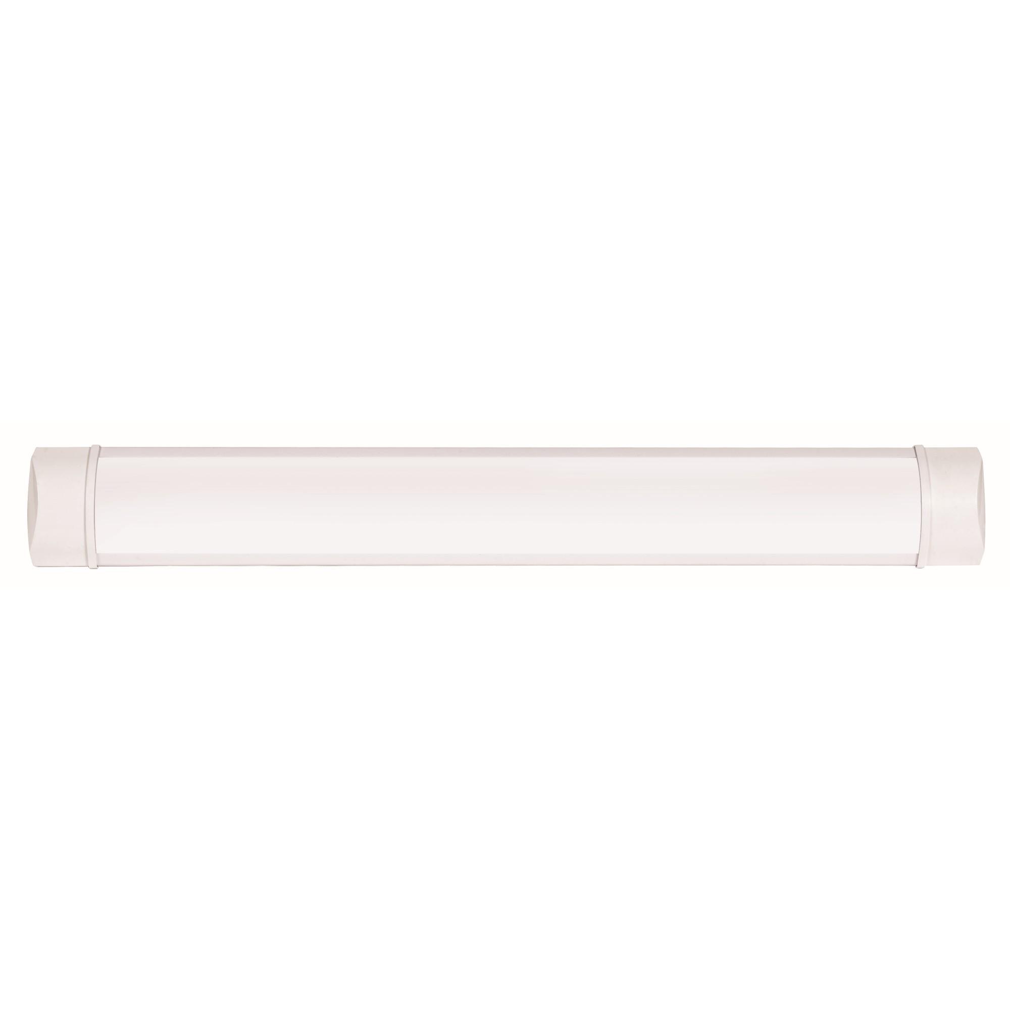 Luminaria Tubular de Sobrepor Plastico Branca 110220V - BV - Ecoline