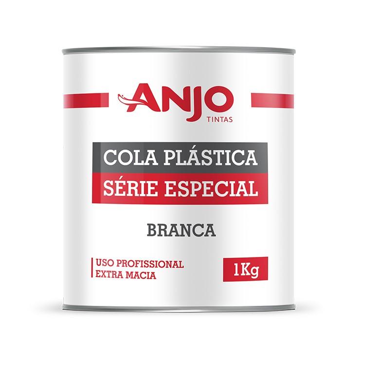 Cola Plastica Uso Profissional Extra Macia Branca 10kg - Anjo