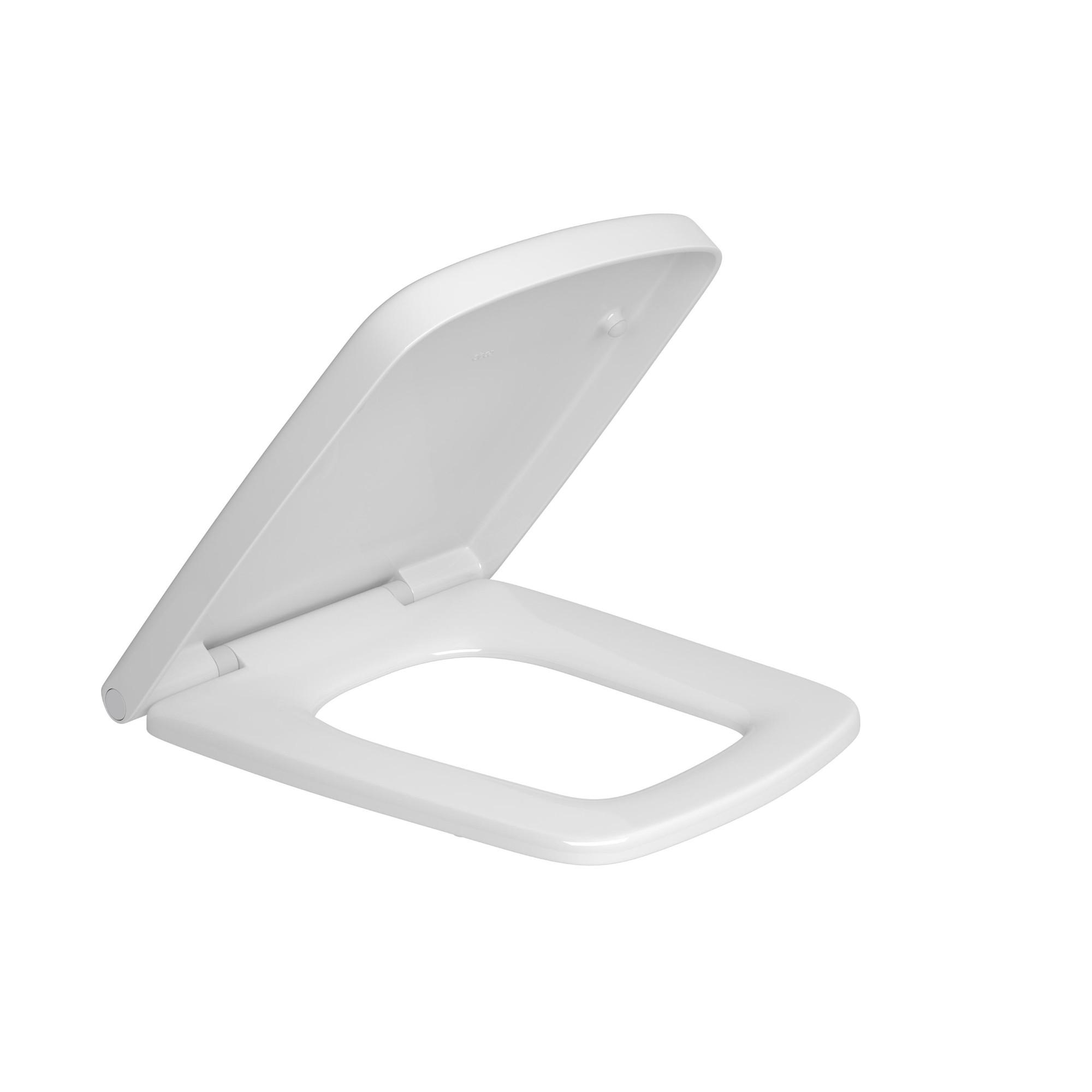 Assento Sanitario Quadrado Clean Termo AP46617 Branco Gelo - Deca