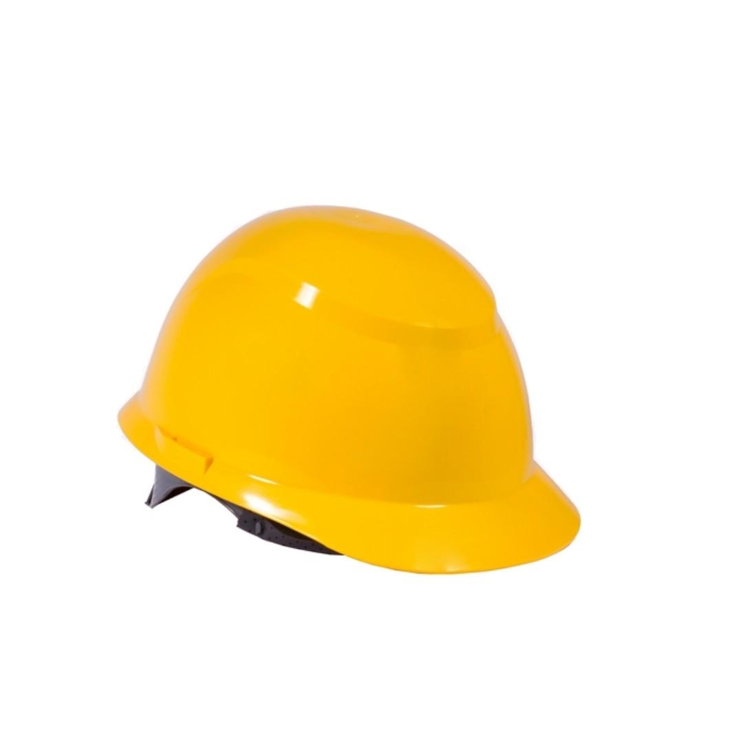 Capacete Plastico Construcao com Carneira Amarelo - Camper