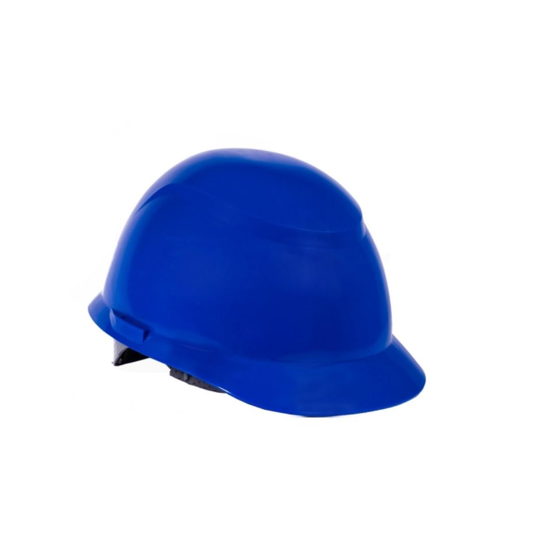 Capacete Plastico Construcao com Carneira Azul - Camper