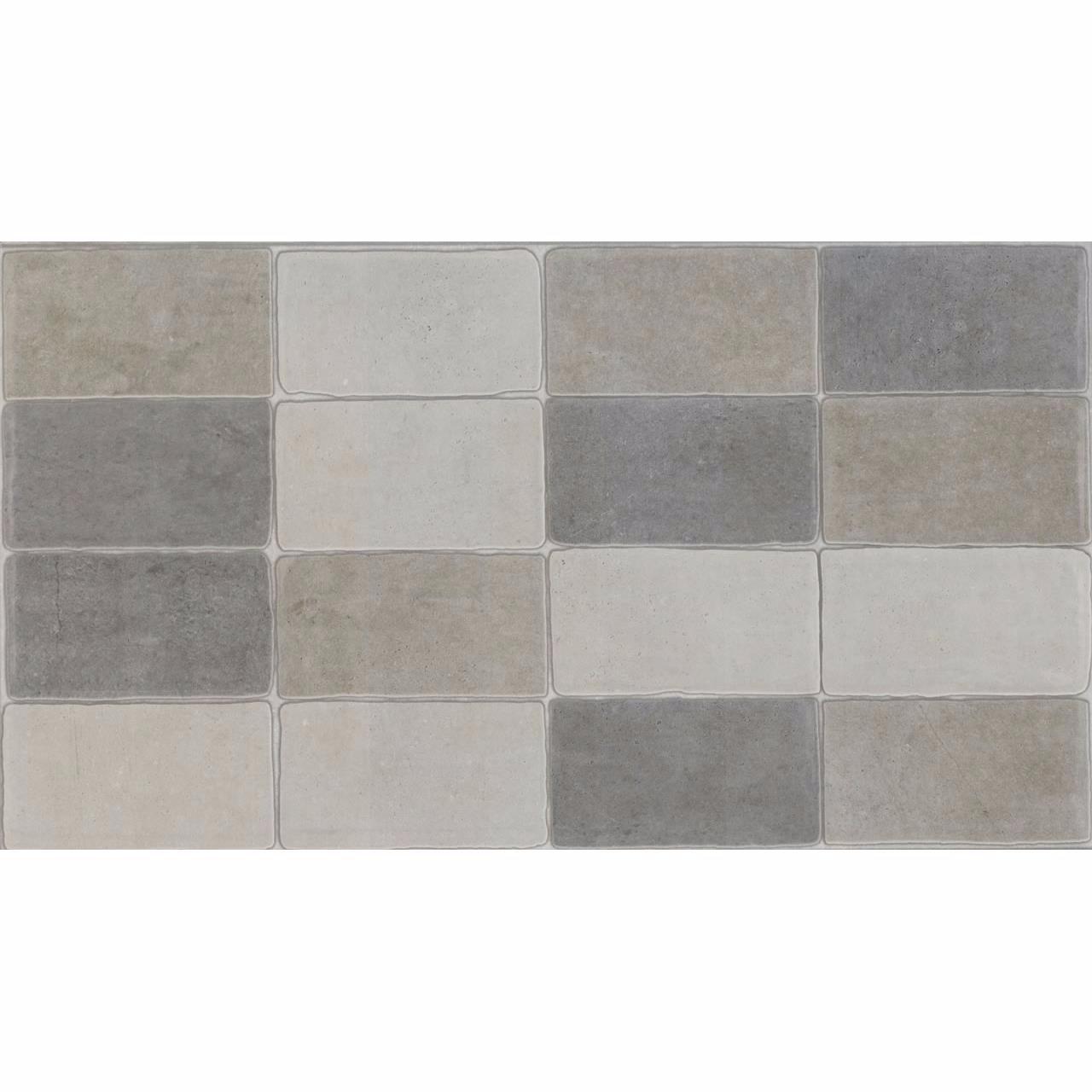 Revestimento Minibrick Cimento Mix Mate Tipo A Retificado 325x59cm 153m Cinza - Eliane