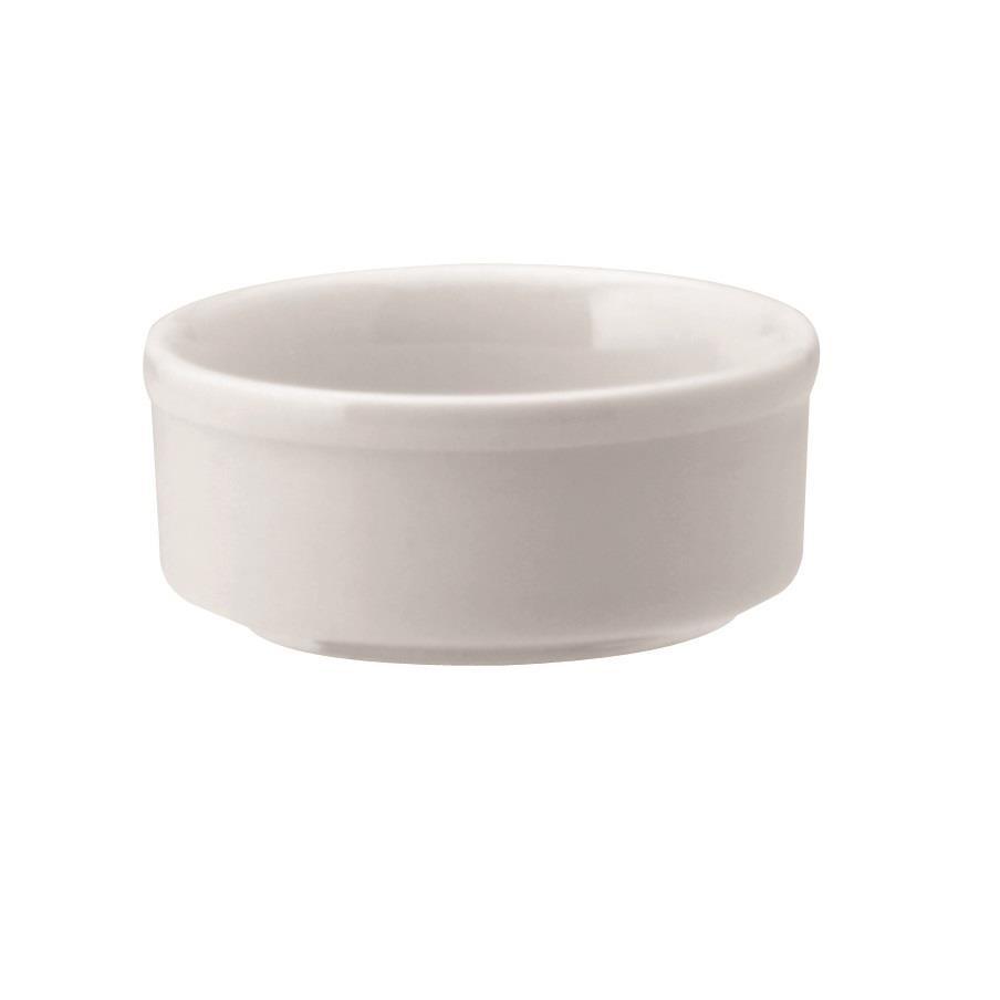 Ramequin de Porcelana Redondo 8 cm Branco - Schmidt