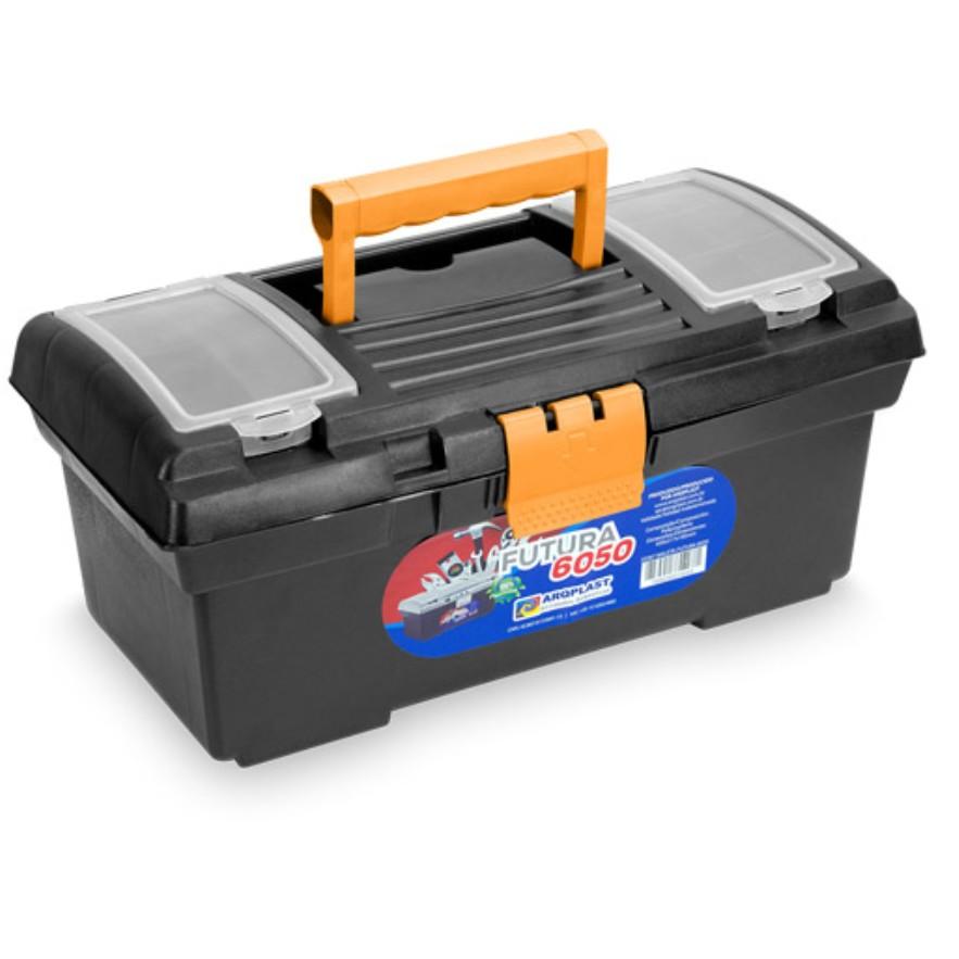 Caixa para Ferramentas de Plastico com Bandeja Organizadora Futura 6050 - Arqplast