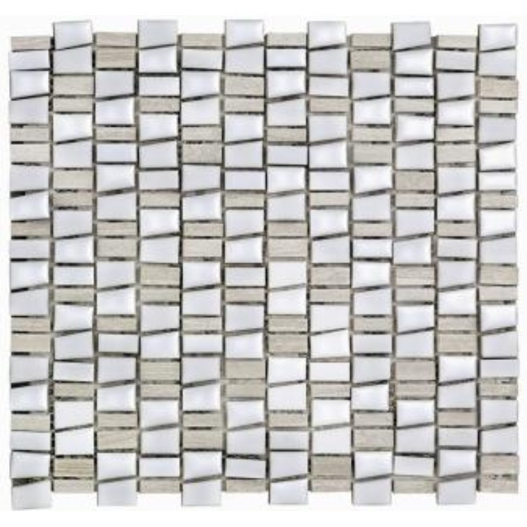 Mosaico Mix Stone White Tipo A 295x322cm 01 Unidades - Incepa