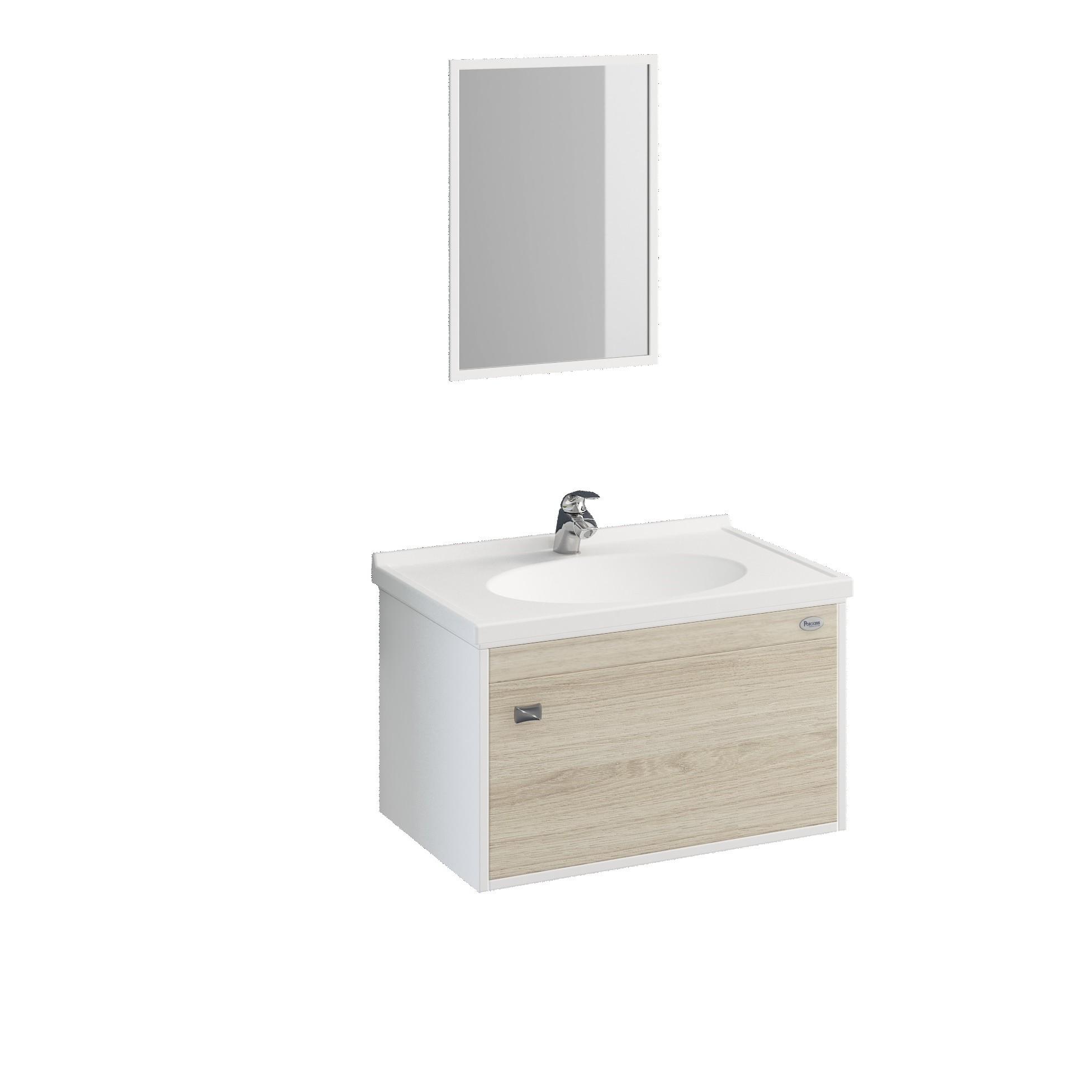 Gabinete para Banheiro Fosco 325x565cm Delicato 16749 - Policlass