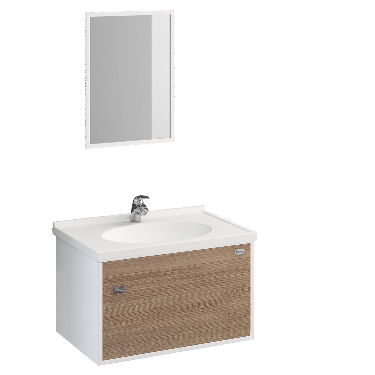Gabinete para Banheiro Fosco 325x565cm Nogueira 16750 - Policlass