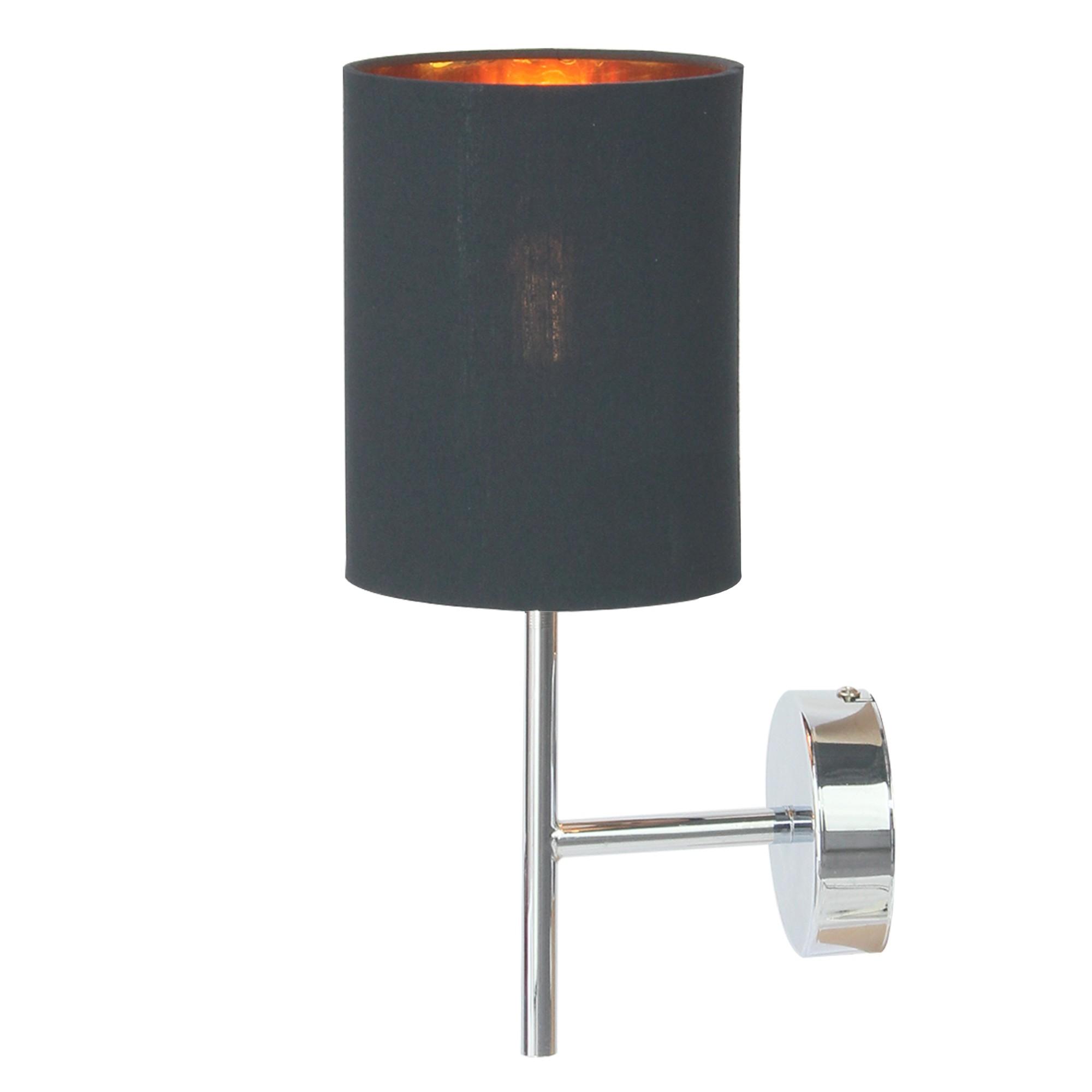 Arandela Aco Preta 1 Lampada Bivolt - Ecoline
