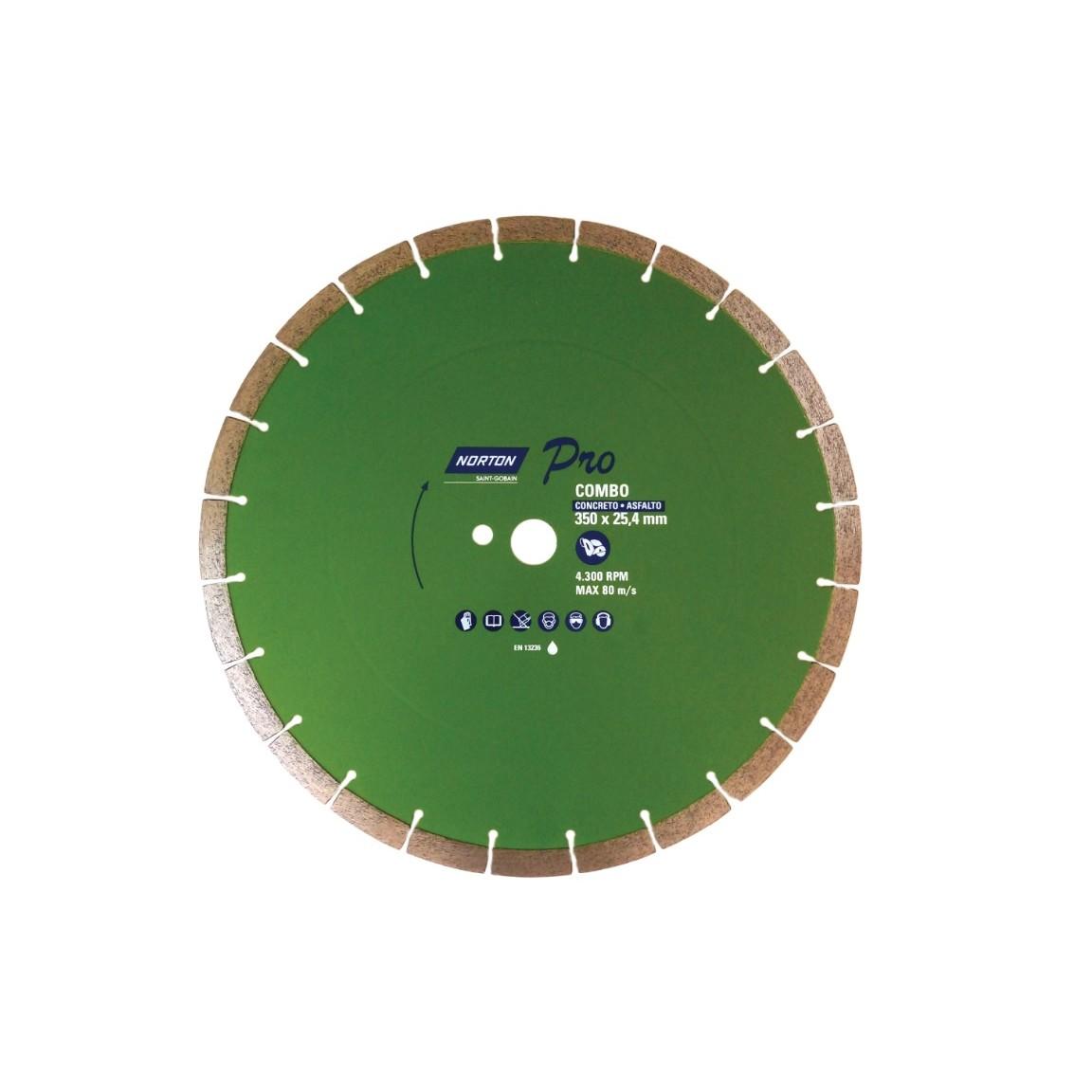 Disco de Corte Diamantado PRO 350x254 mm - Norton