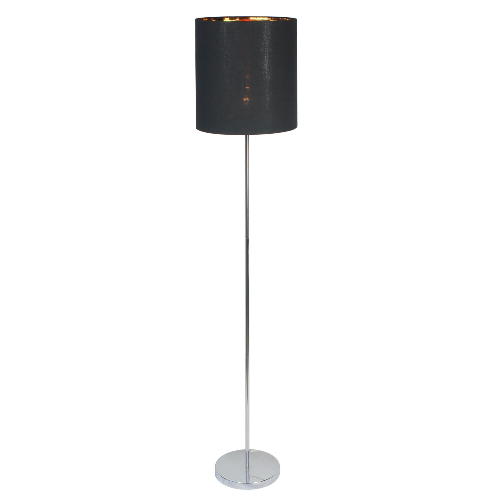 Luminaria Coluna de Aco e Tecido 165m Preta 7570 - Ecoline