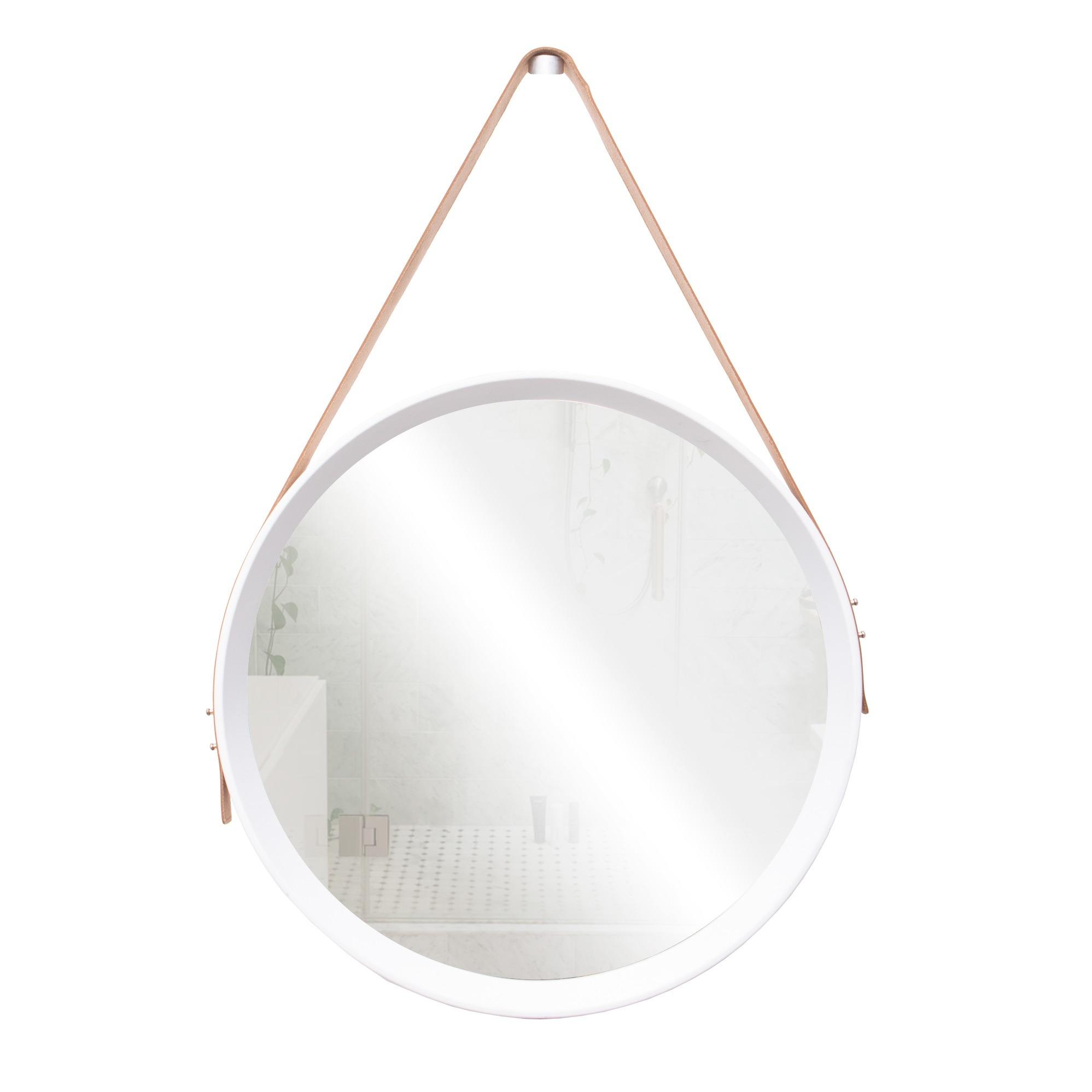 Espelho para Parede Redondo 4mm 40x40 cm Branco - Jolie