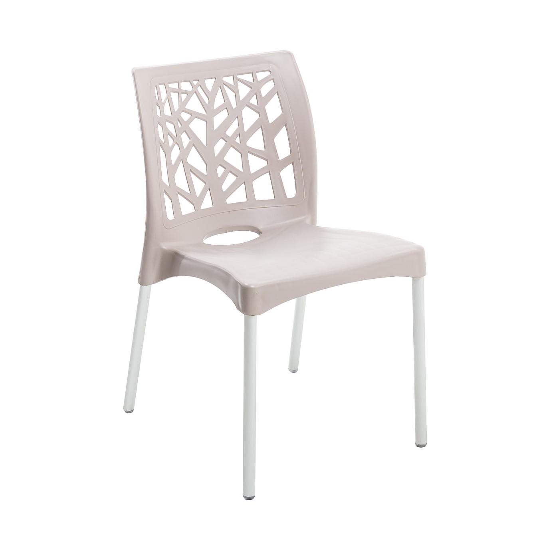 Cadeira Nature de Polipropileno Bege - Forte Plastico
