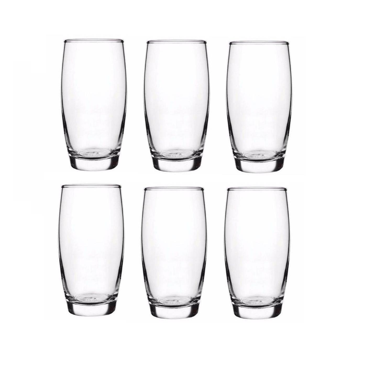 Jogo de Copos de Vidro para Agua 6 Pecas 300ml OCA - Nadir