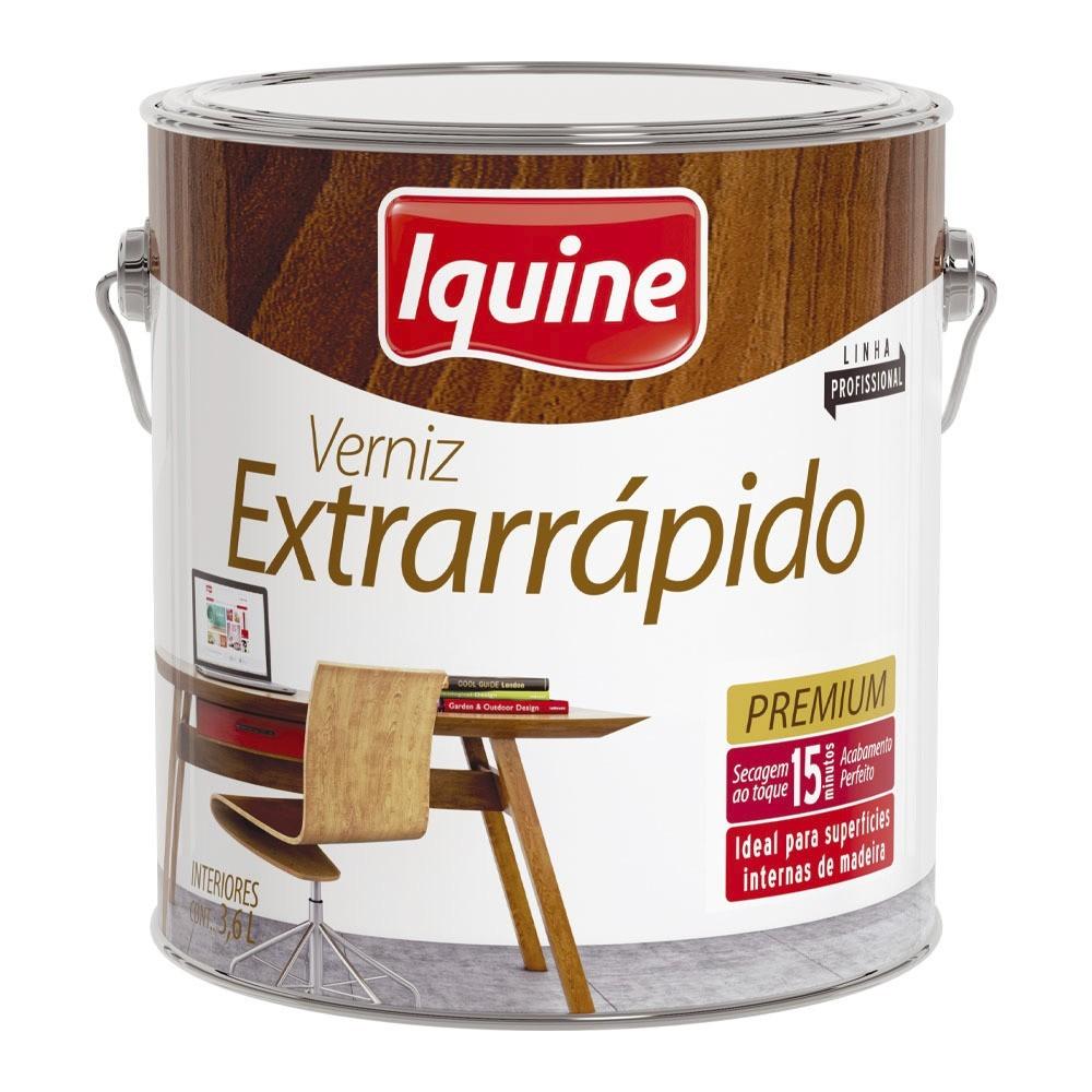Verniz Extrarrapido Alto Brilho - Imbuia - 3600L - Secagem Rapida Iquine