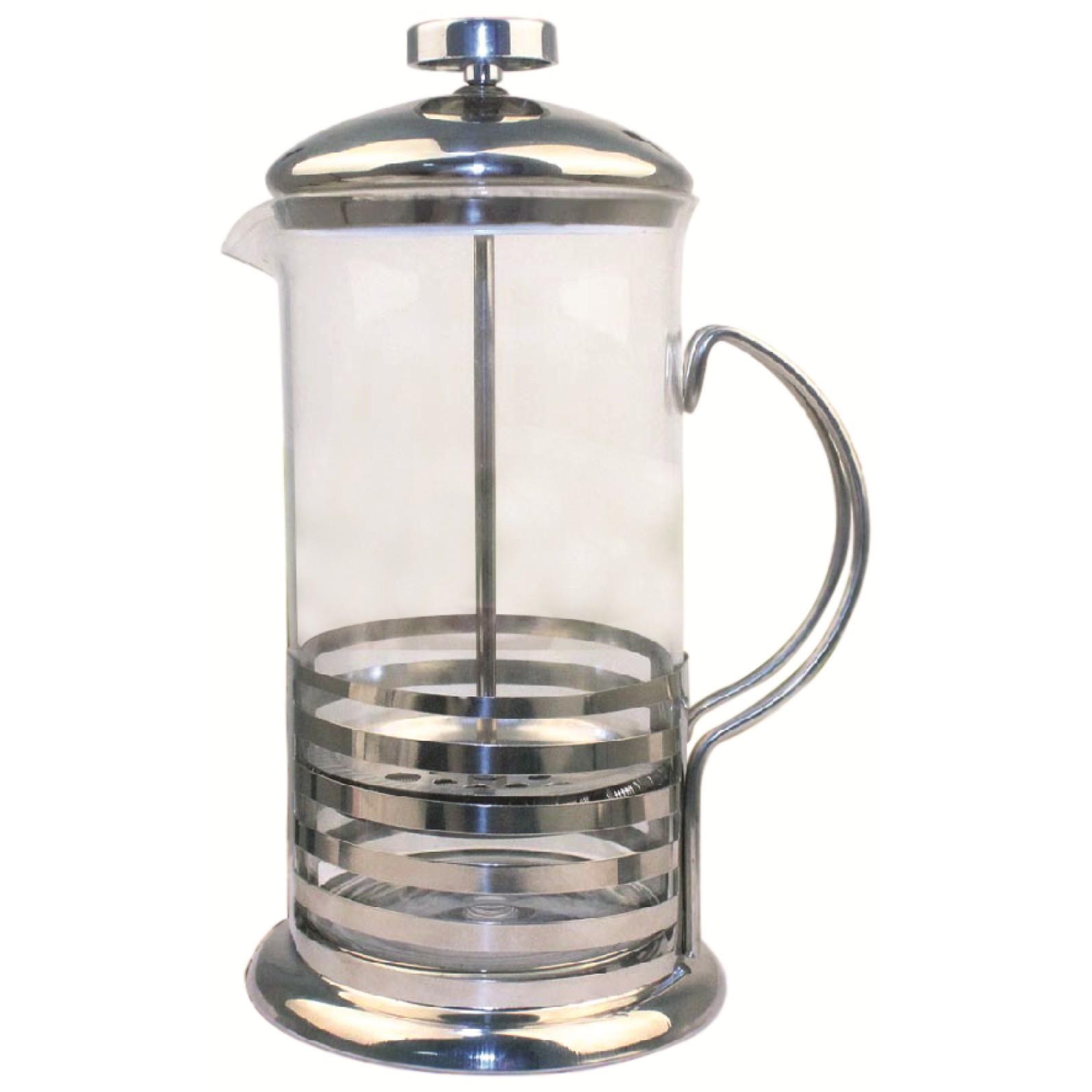 Cafeteira Francesa 0350L Aco Inox e Vidro - Rio de Ouro