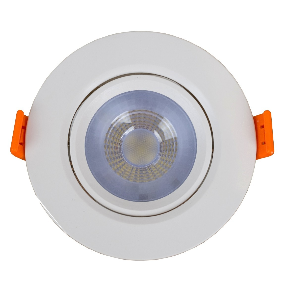 Spot LED Embutir ABS Redondo 7W Luz Amarela Bivolt - Llum