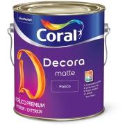 Tinta Acrílica Fosco Premium 3,6L - Algodão Egípcio - Decora Coral