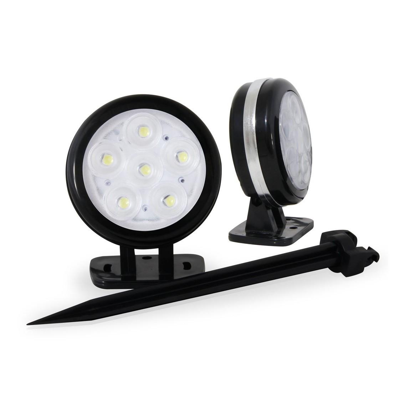 Luminaria de Jardim Espeto LED Preta com Luz Amarela New Bivolt - Iluctron