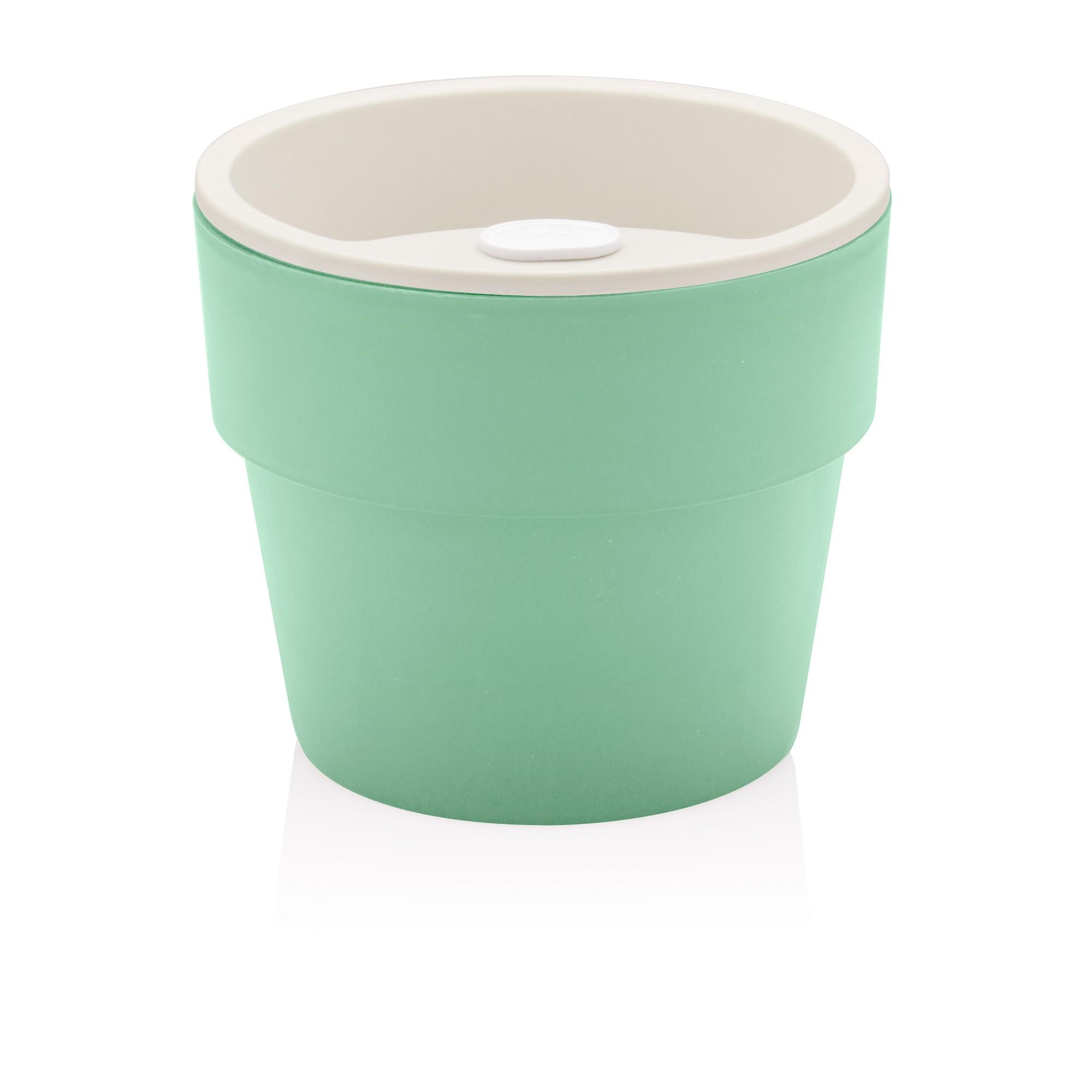 Vaso para Plantas Autoirrigavel G 15x165 cm 600 ml Polipropileno Verde Menta - Ou