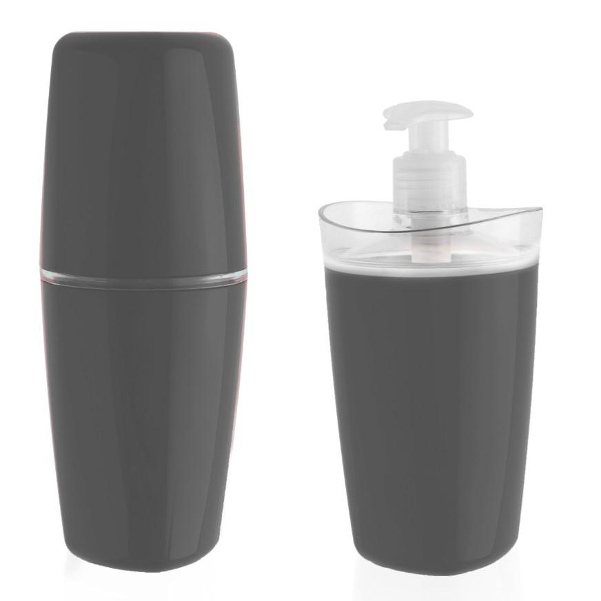 Jogo para Banheiro 2 Pecas Plastico Cinza - CBT805 - Ou