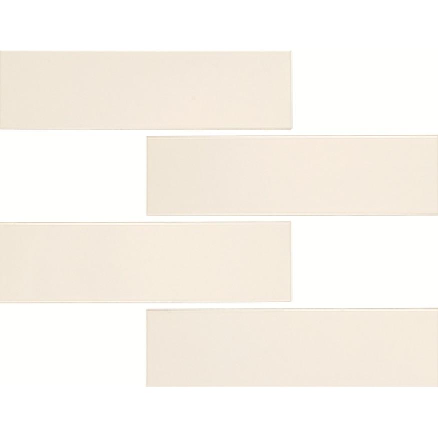 Ceramica Gres Chroma Off White Esmaltado brilhante HD Tipo A Borda Bold 7x26cm 092m Branco - Portobello