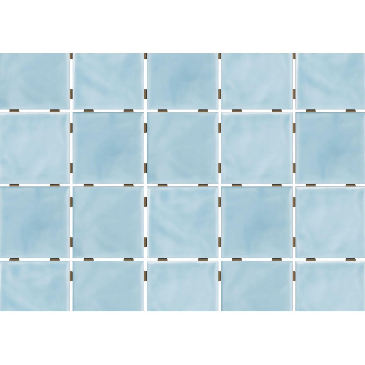 Revestimento de Parede Brilhante Craquelada 159m 75x75cm Azul Ceu Onda Mesh - Eliane