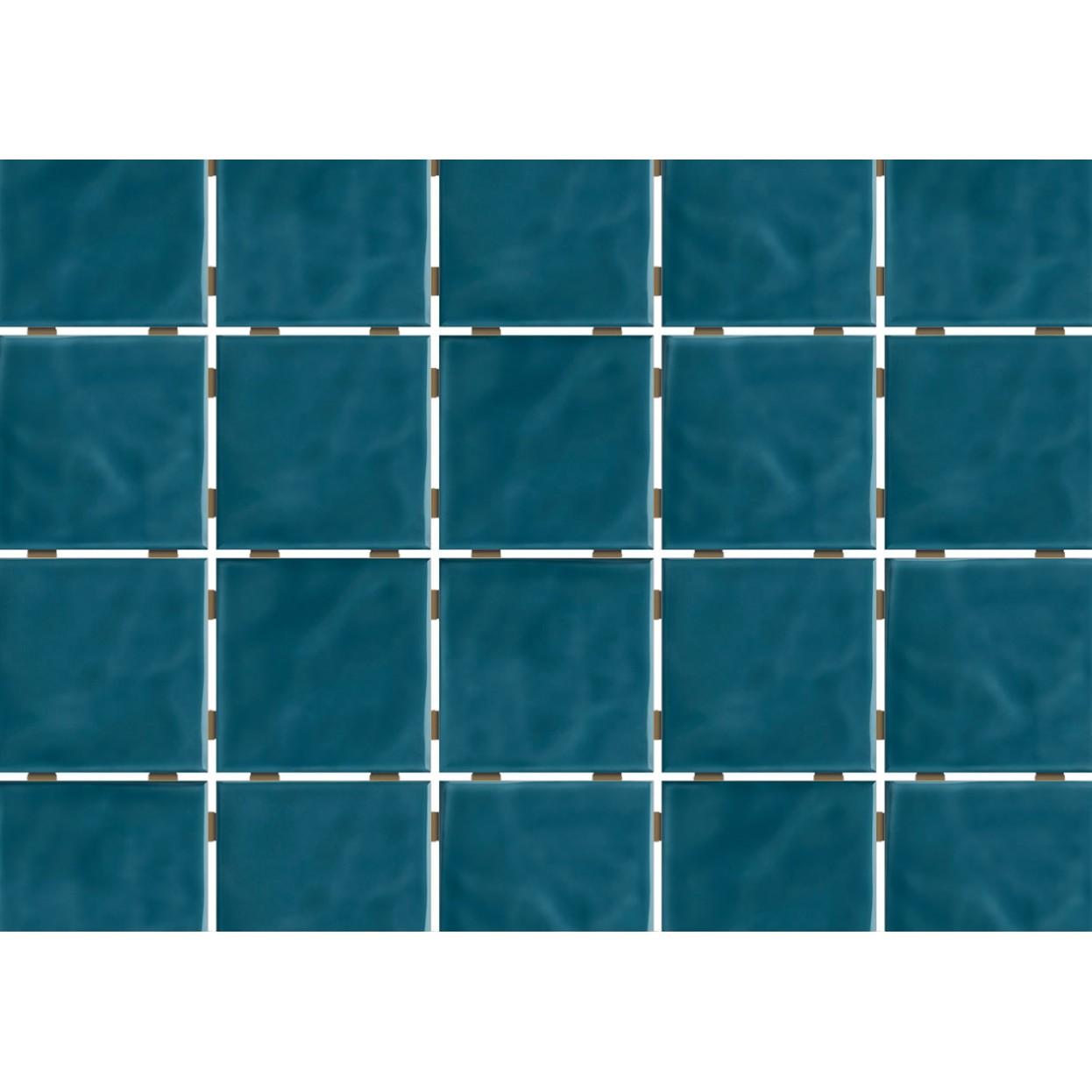 Revestimento de Parede Brilhante Craquelada 159m 75x75cm Azul Mar Onda Mesh - Eliane