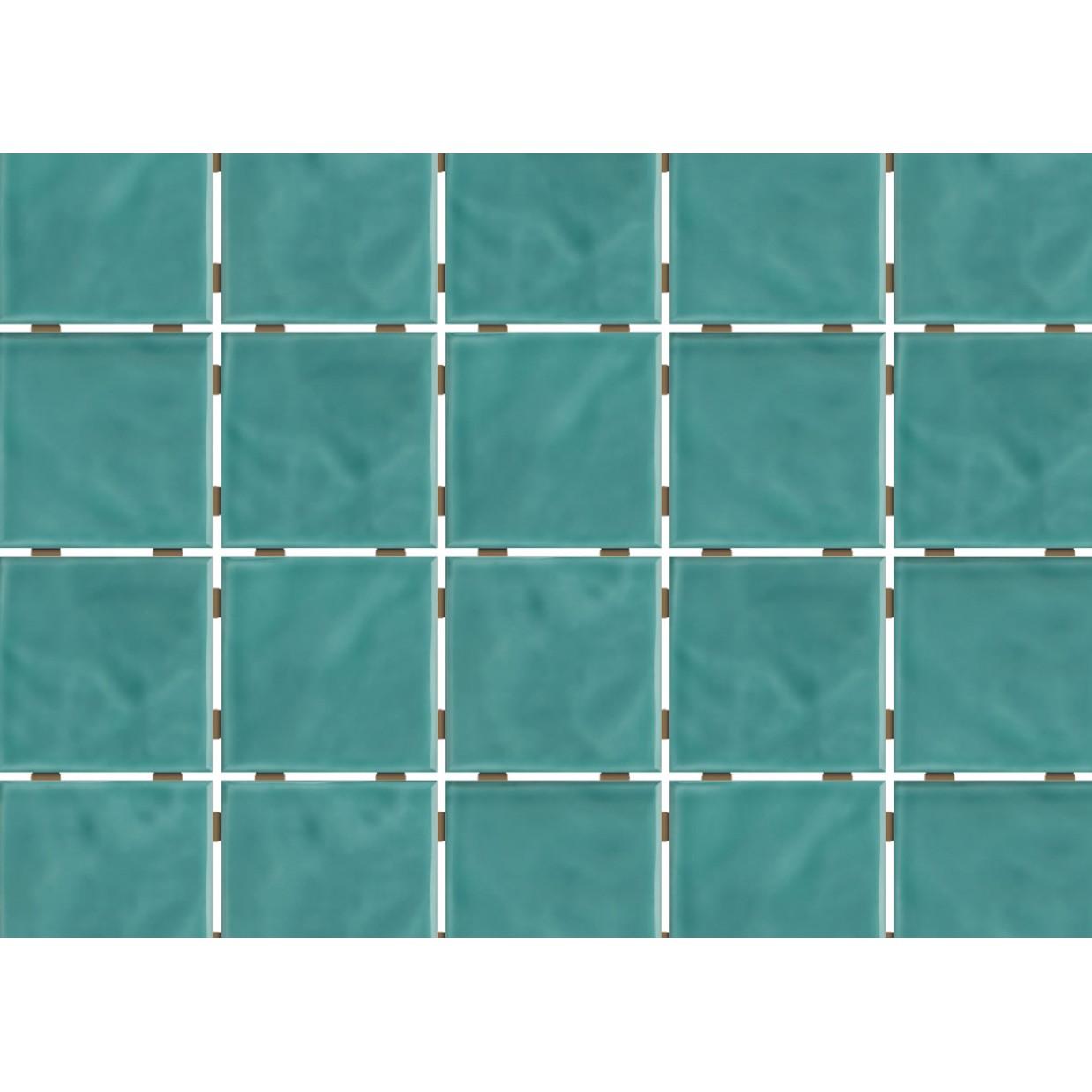 Revestimento de Parede Brilhante Craquelada 159m 75x75cm Verde Agua Onda Mesh - Eliane