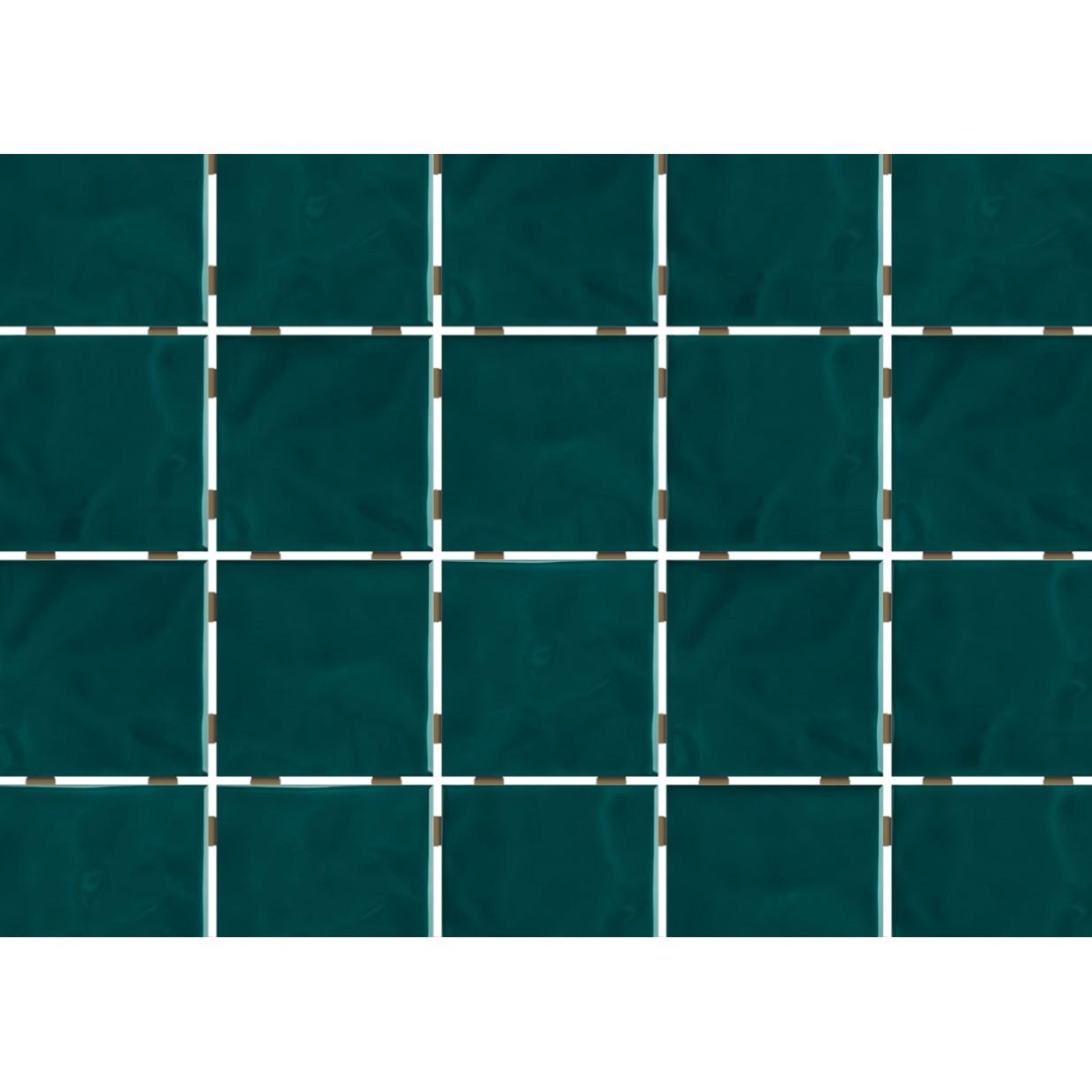 Revestimento de Parede Brilhante Craquelada 159m 75x75cm Verde Musgo Onda Mesh - Eliane