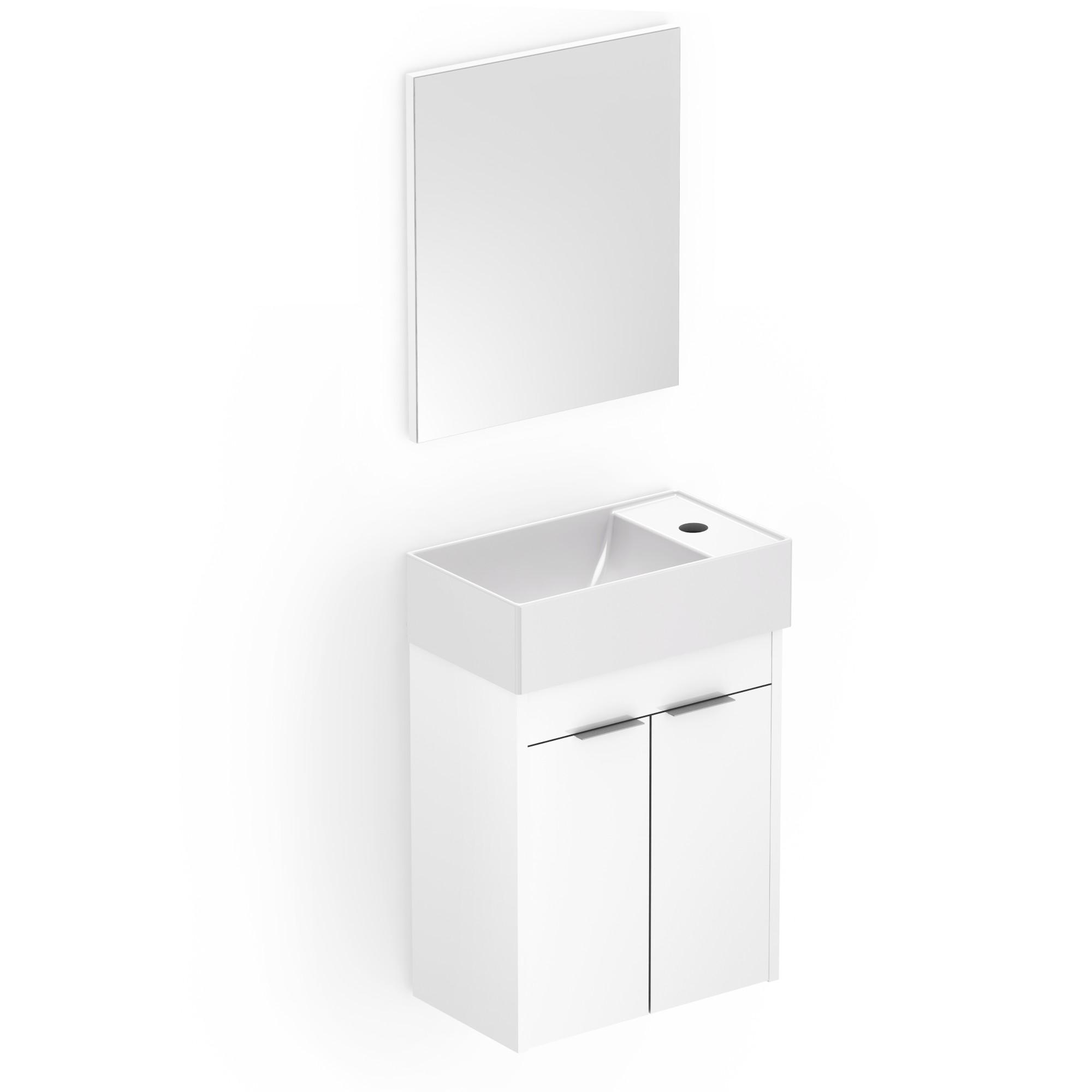 Gabinete para Banheiro com 2 Portas 40x22cm Branco B60000 - Roca