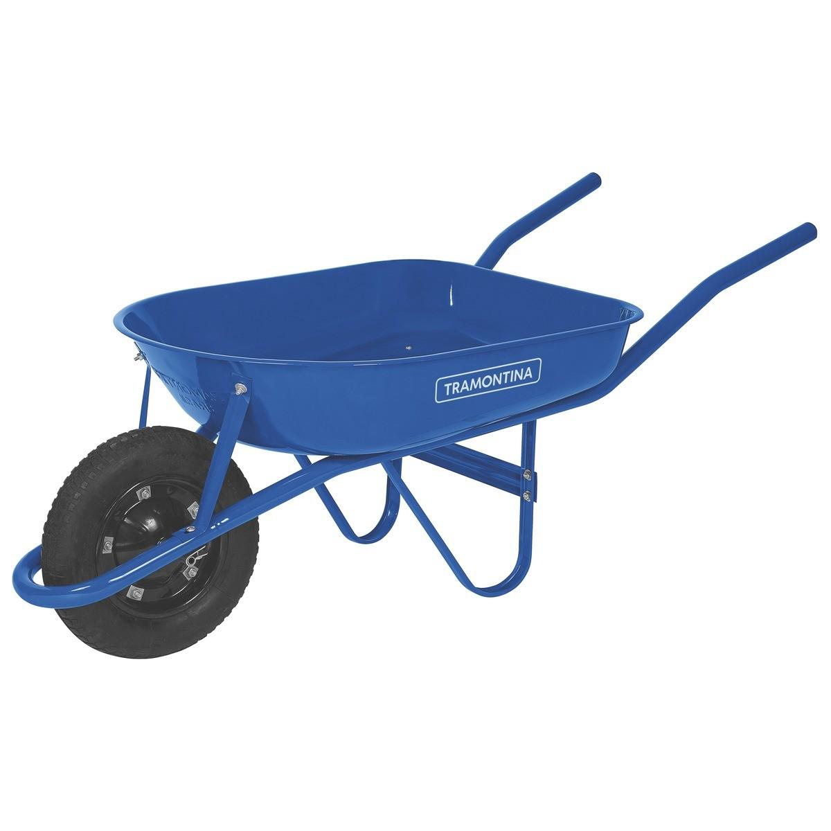 Carrinho de Mao Azul Braco Metalico 77704432 - Tramontina