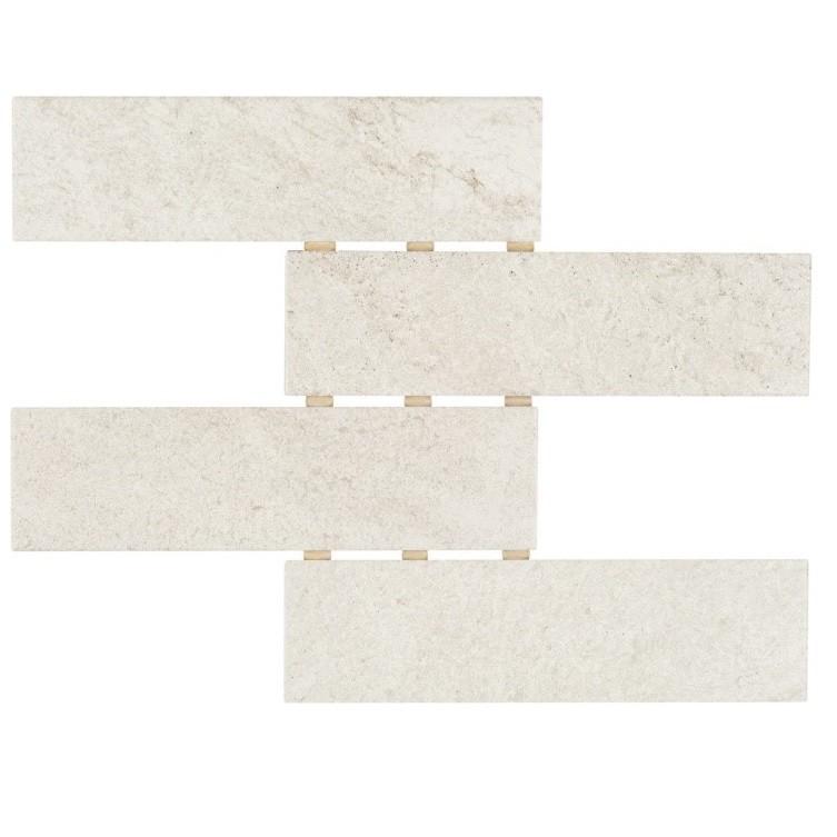 Ceramica Gres Thor Off White Relevo HD Tipo A Borda Bold 7x26cm 092m Branco - Portobello