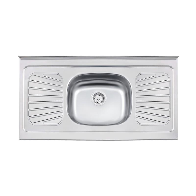Pia Simples para Cozinha de Aco Inox Pre-polido 105cm x 52cm Prata - 93040526 - Tramontina