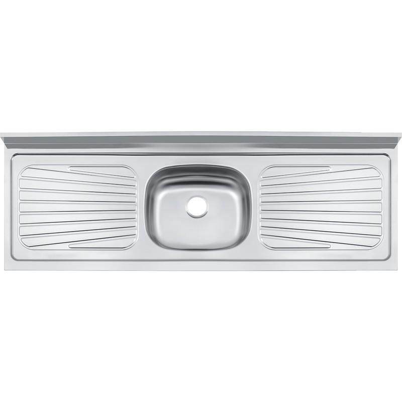 Pia Simples para Cozinha de Aco Inox Pre-polido 151cm x 52cm Prata - 93042526 - Tramontina