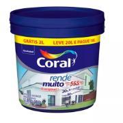 Tinta Acrílica Fosco Standard 20L - Branco - Rende Muito Coral