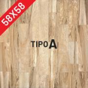 Cerâmica PSI-65620 Brilhante HD Tipo A Borda Bold 58x58cm 2,68m² Marrom Claro - Incenor