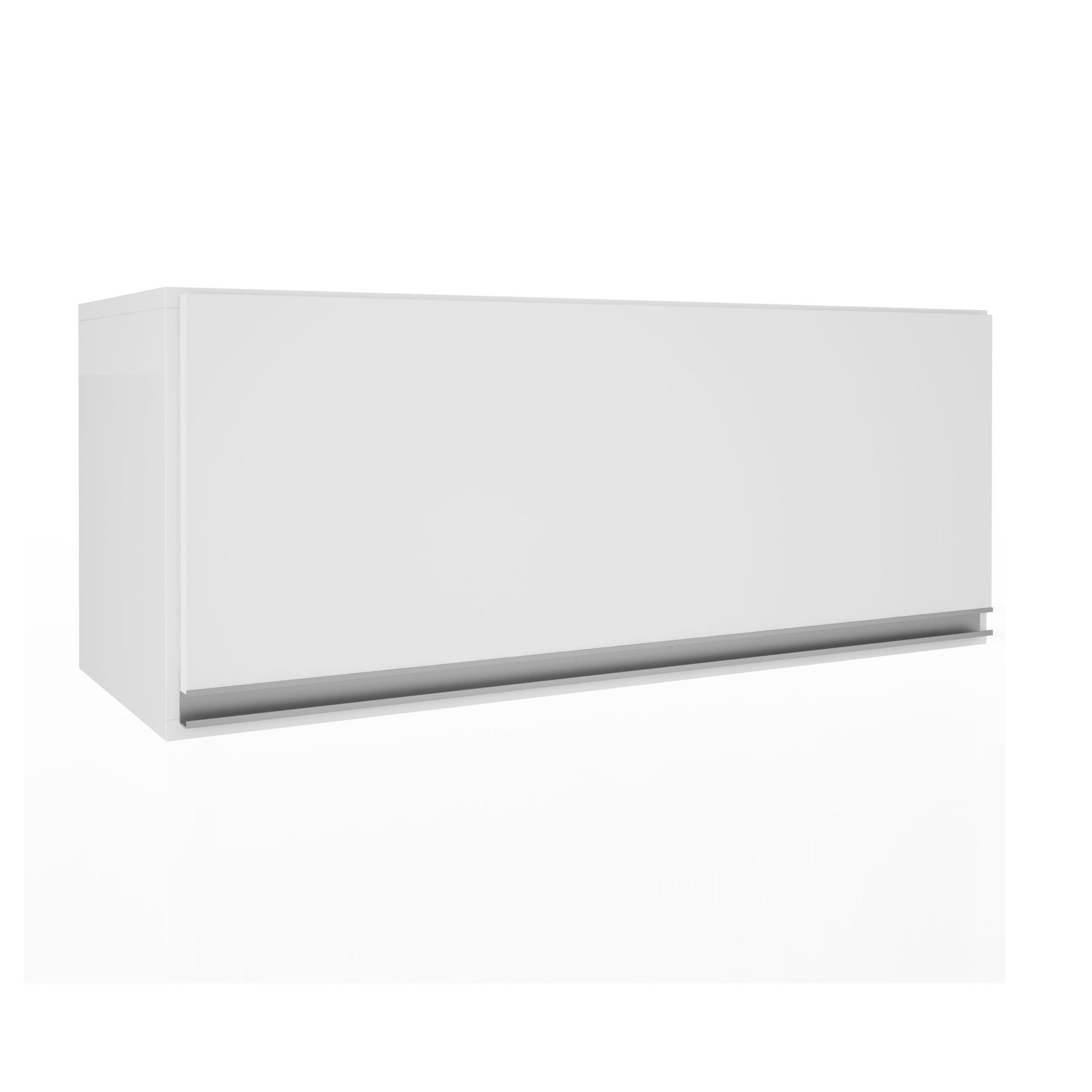Armario Aereo 80cm 1 Porta Basculante Branco Top Class - Batrol