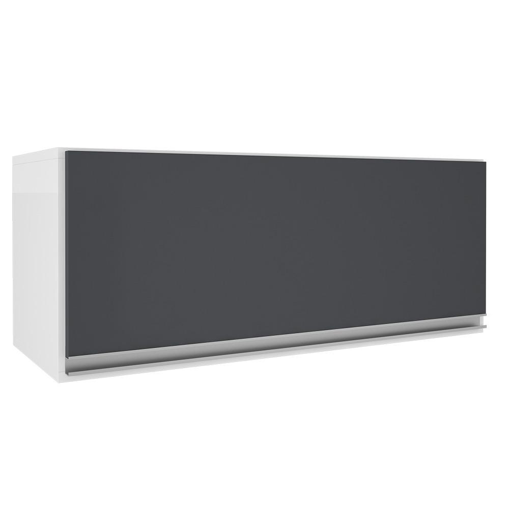 Armario Aereo 80cm 1 Porta Basculante Grafite Top Class - Batrol