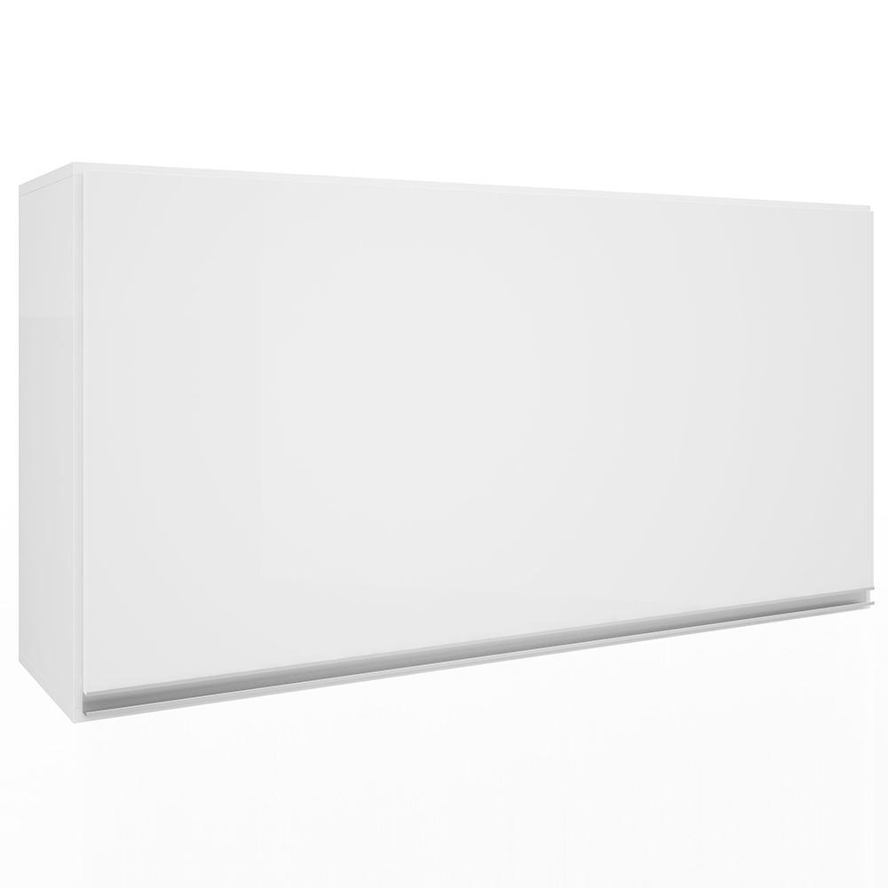 Armario Aereo 120cm 1 Porta Basculante Branco Top Class - Batrol