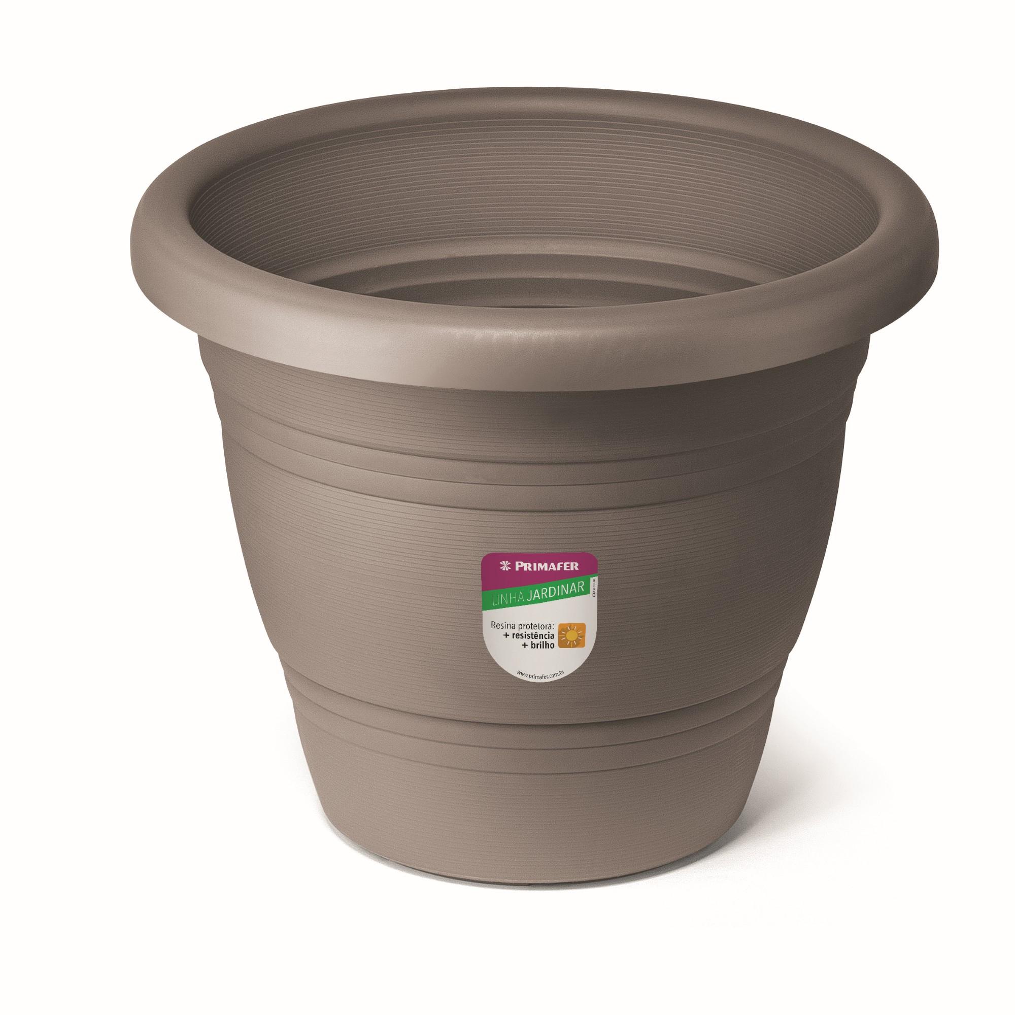 Vaso de Plastico para Plantas 28 x 28 cm Cinza - Primafer