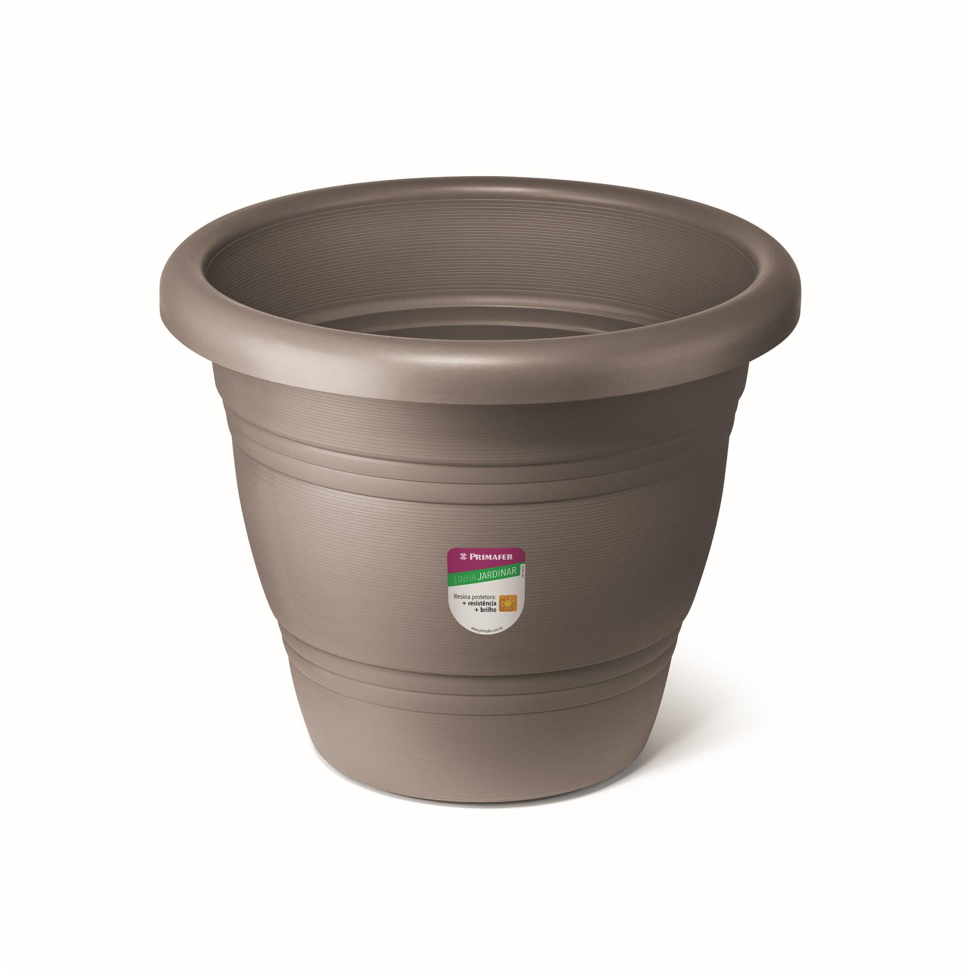 Vaso de Plastico para Plantas 35 x 35 cm Cinza - Primafer