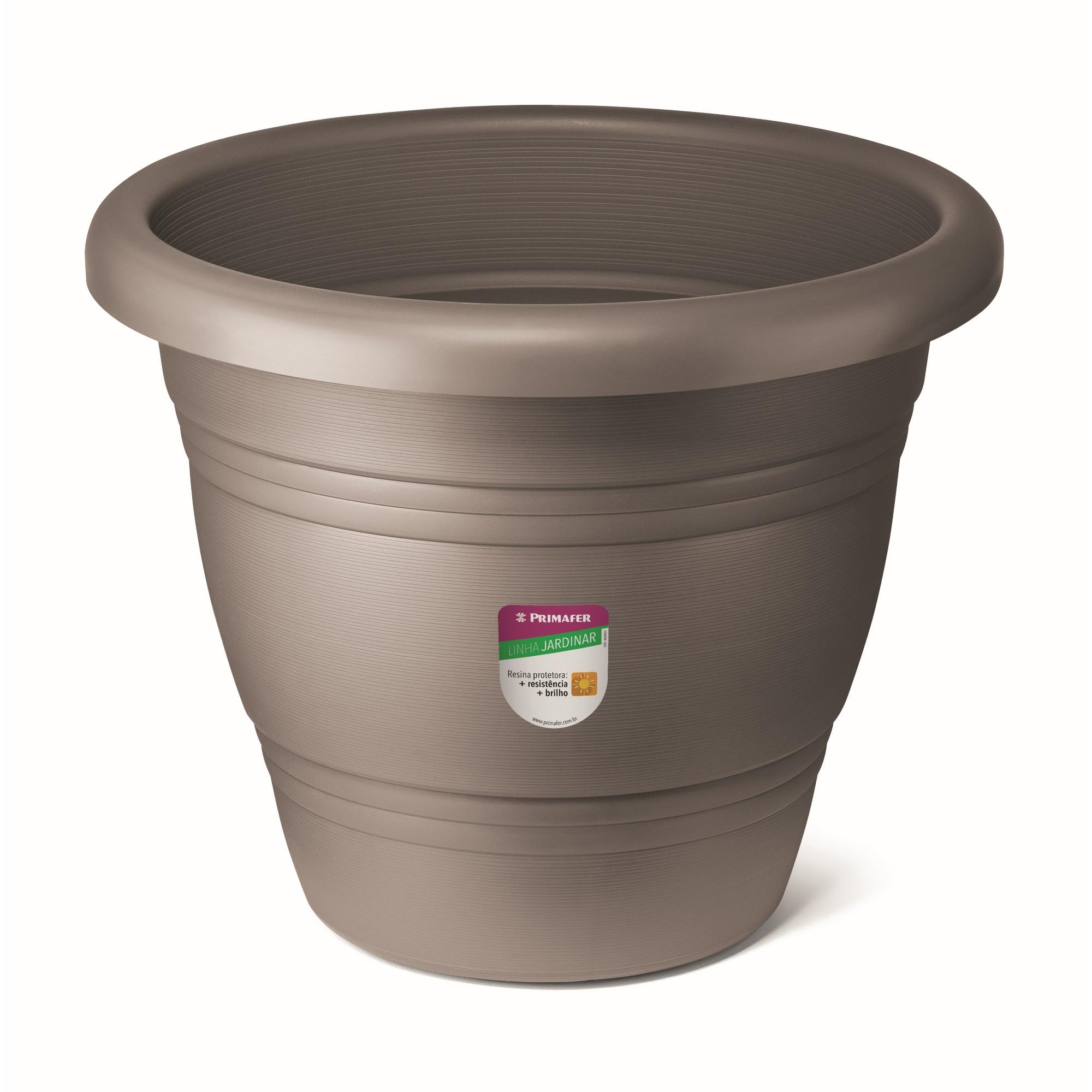 Vaso de Plastico para Plantas 45 x 45 cm Concreto - Primafer