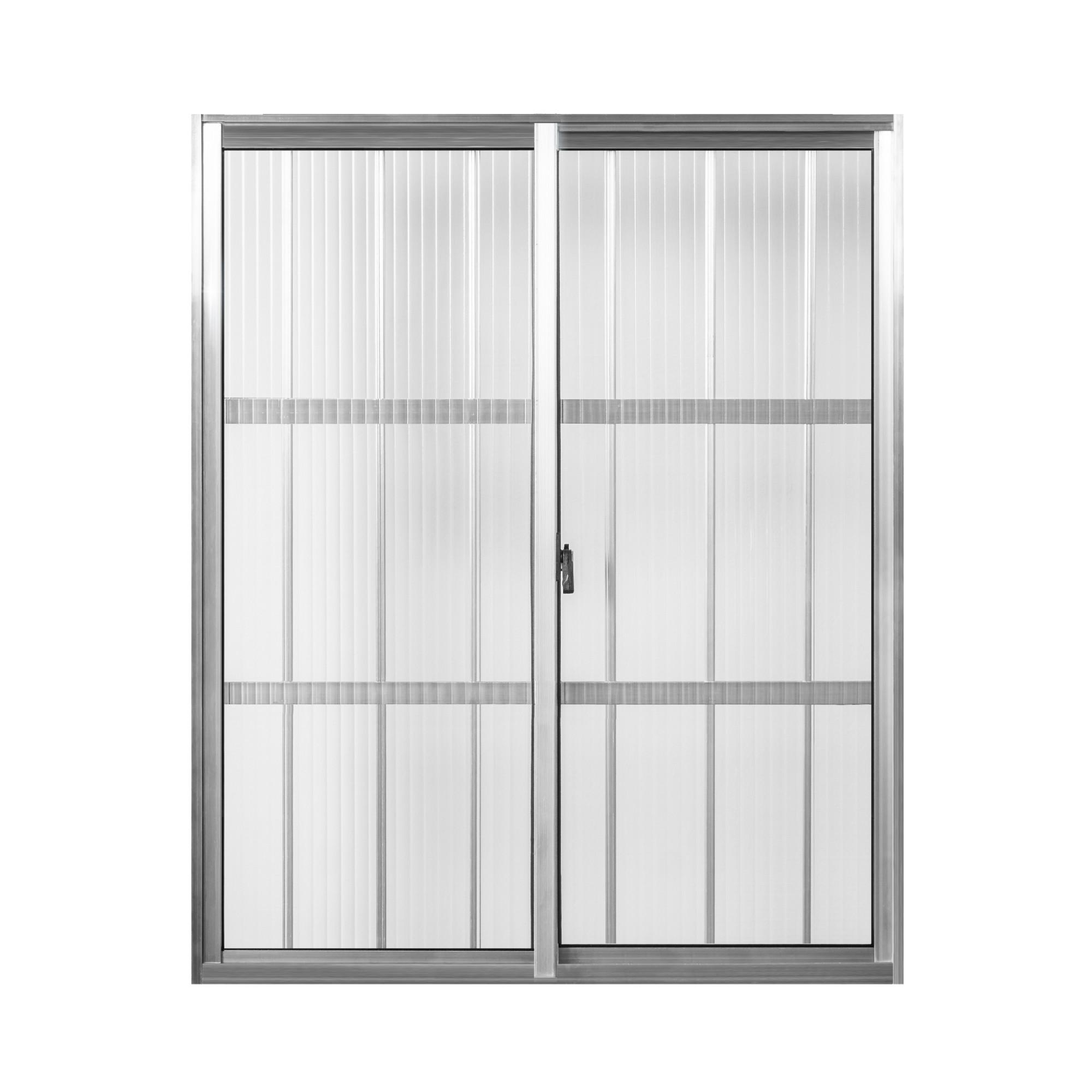 Janela de Correr de Aluminio 2 Folhas com Grade 100x80 cm Tropical - Aluvid