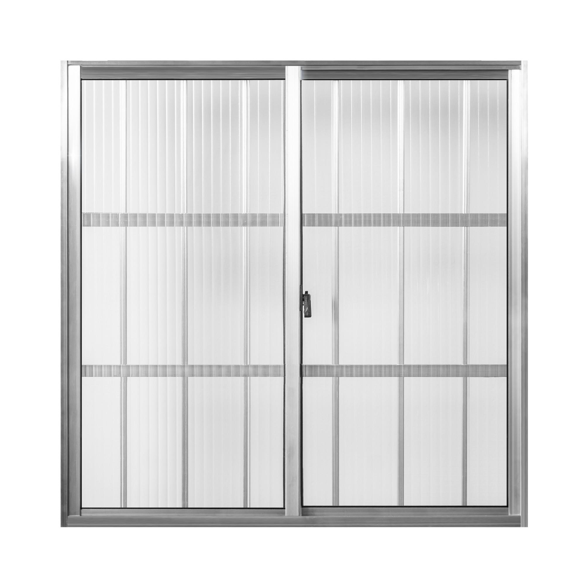 Janela de Correr de Aluminio 2 Folhas com Grade 100x100 cm Tropical - Aluvid