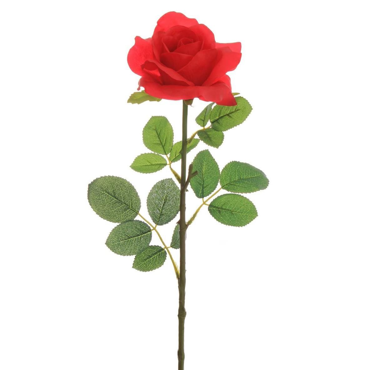 Haste Artificial Rosa 72cm Vermelho