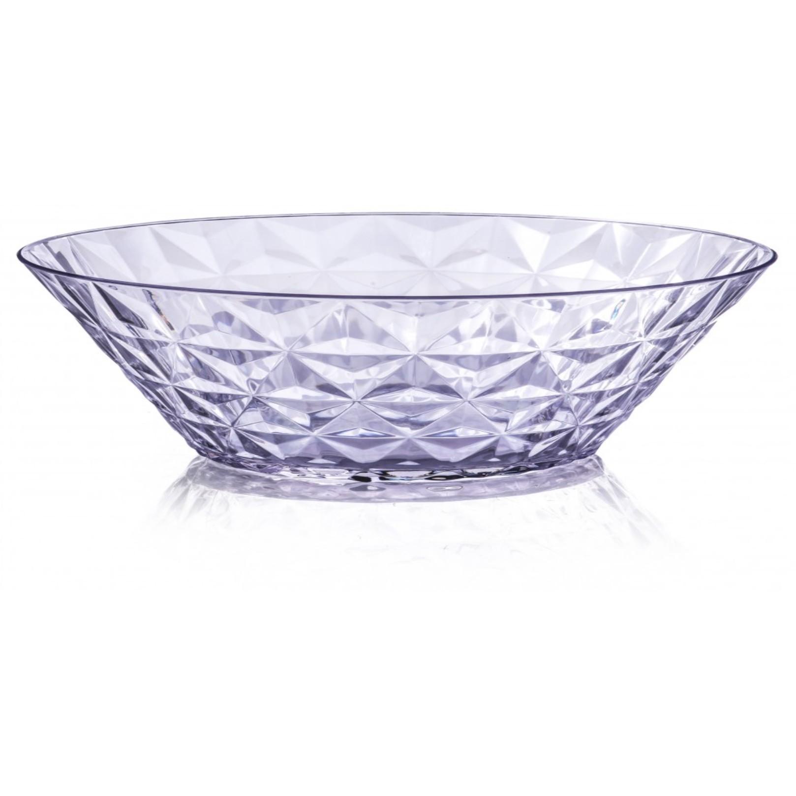 Saladeira Funda de Plastico Redonda 3L Transparente - Plasvale