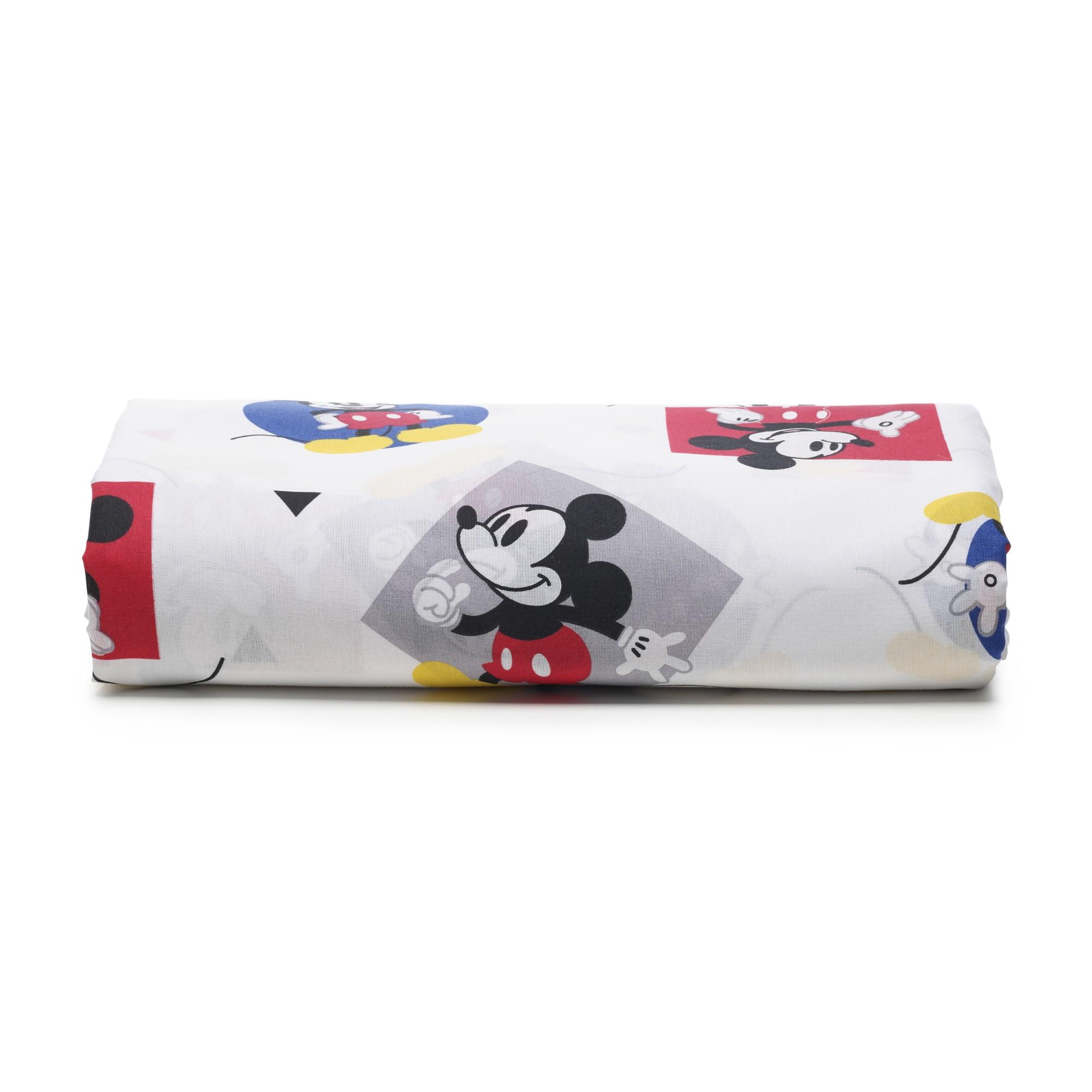 Lencol Solteiro Disney com Elastico 50 Algodao e 50 Poliester Vermelho - Santista