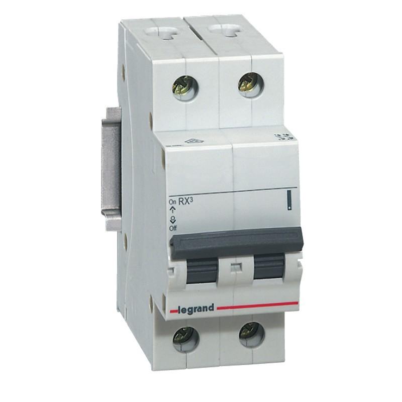 Disjuntor DIN Bipolar 230400 VCA 60A Tipo C - Legrand 419312