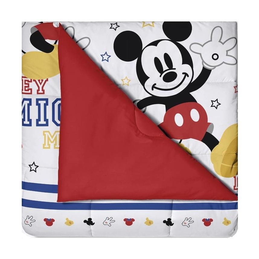 Edredom Infantil Santista Mickey Play 150x220 cm 100 Algodao